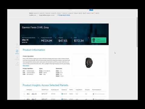 Algopix Tutorial - Using Insights Engine for Single Product Market Analysis