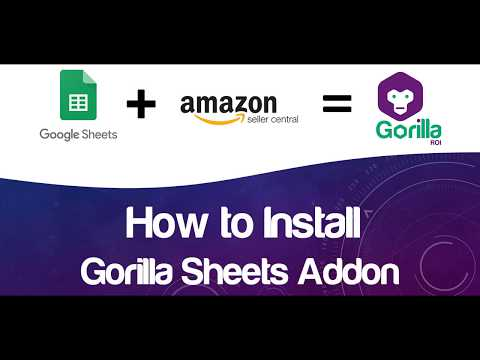 Install Amazon Seller Central to Google Sheets Integration Add-on