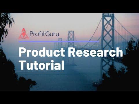 ProfitGuru | Amazon Product Research Tutorial