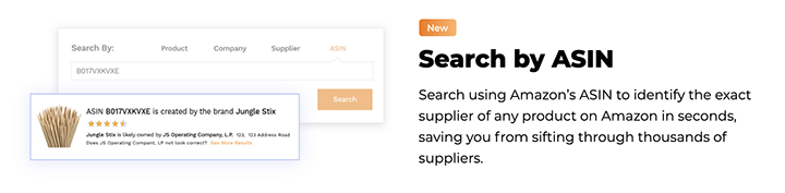 junglescout supplier search by asin