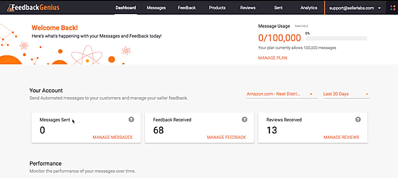 feedback genius dashboard