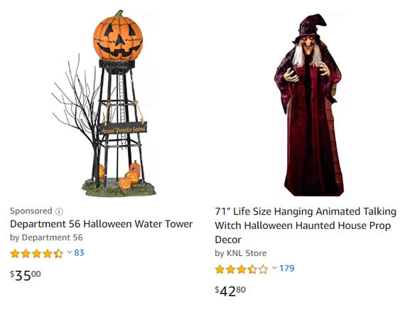 halloween seasonal products