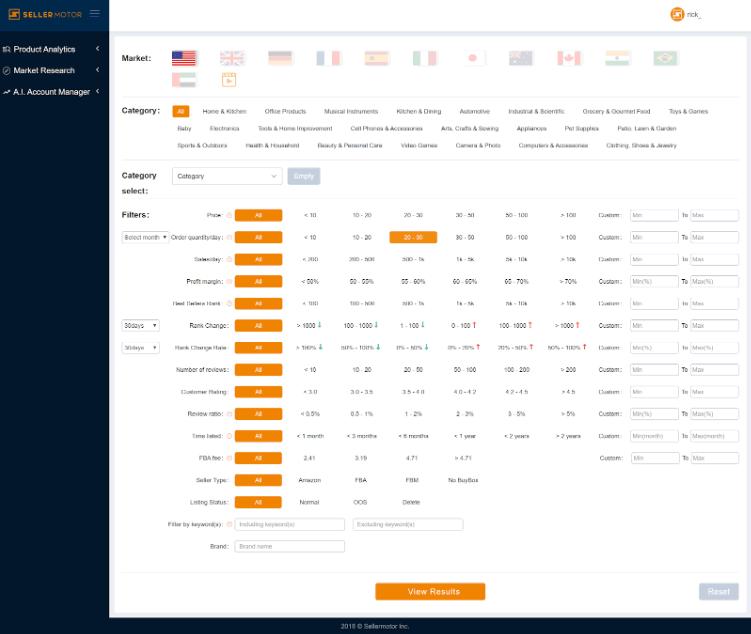 seller motor product analysis