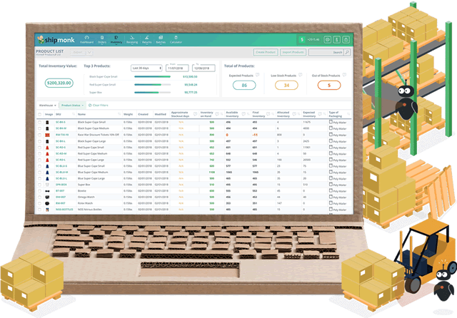 shipmonk inventory management screenshot