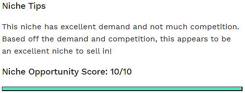 jungle scout niche score