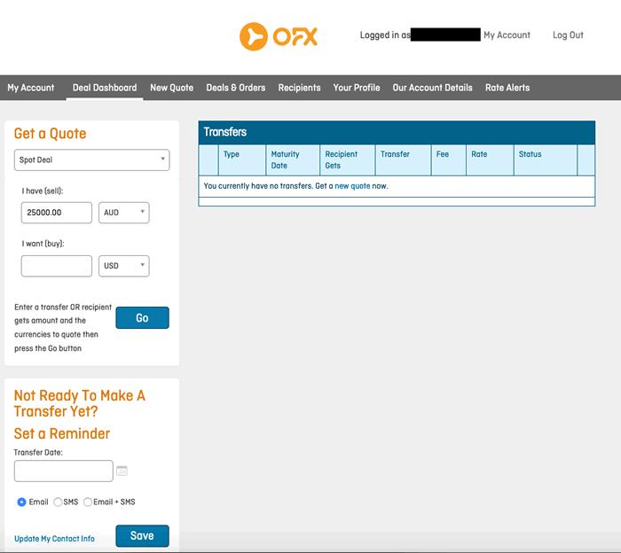 OFX screenshot