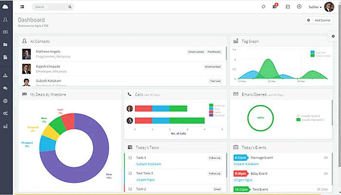 agile crm screenshot
