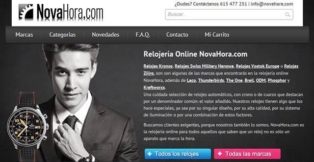 Nuevo proyecto: Novahora.com