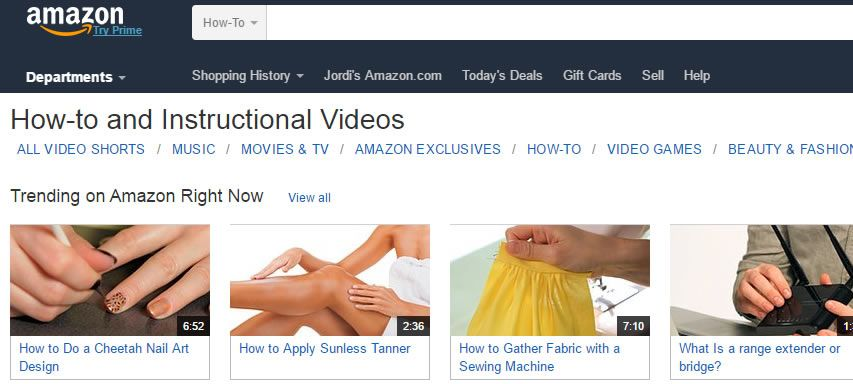 Amazon le quiere comer terreno a Youtube
