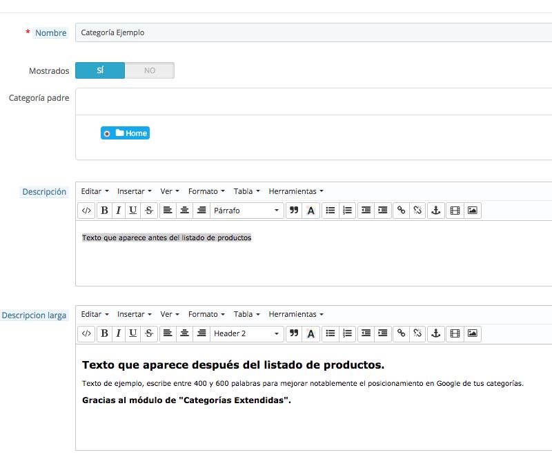 Mejora el SEO de tus categorías en Prestashop con este módulo gratis