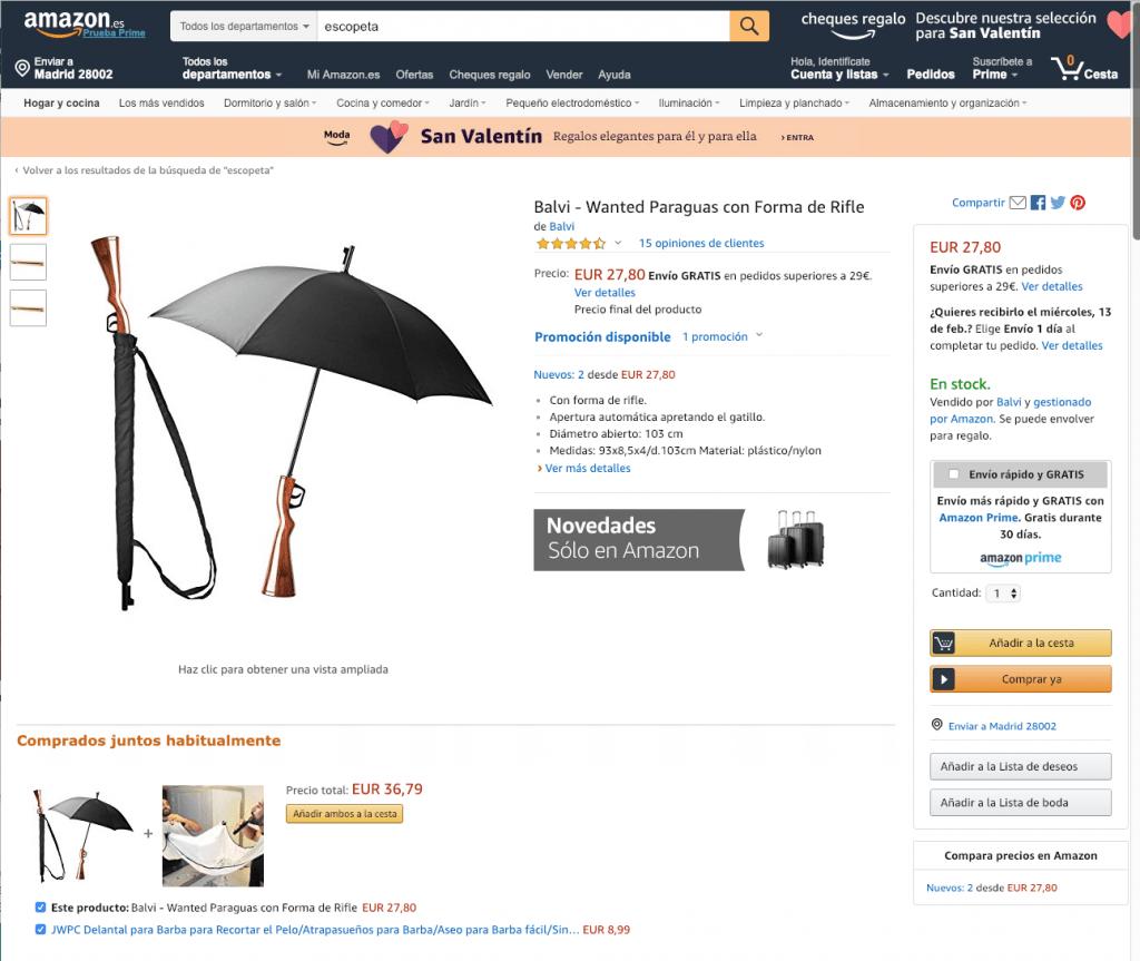 Escopetas que sí se pueden vender en Amzon