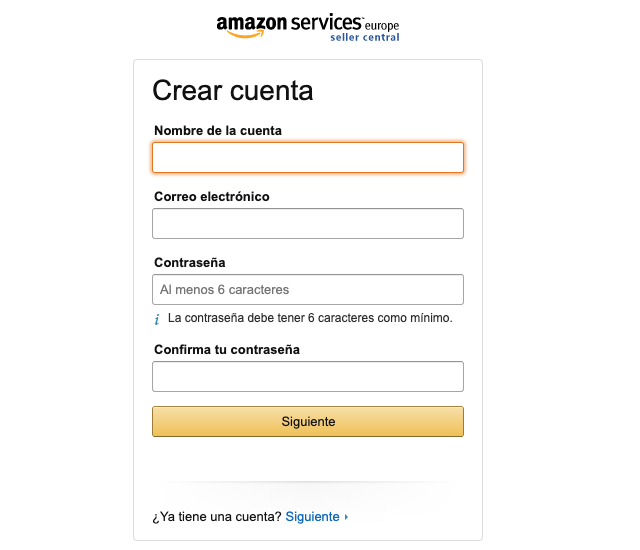 Abrir cuenta en Amazon seller central españa