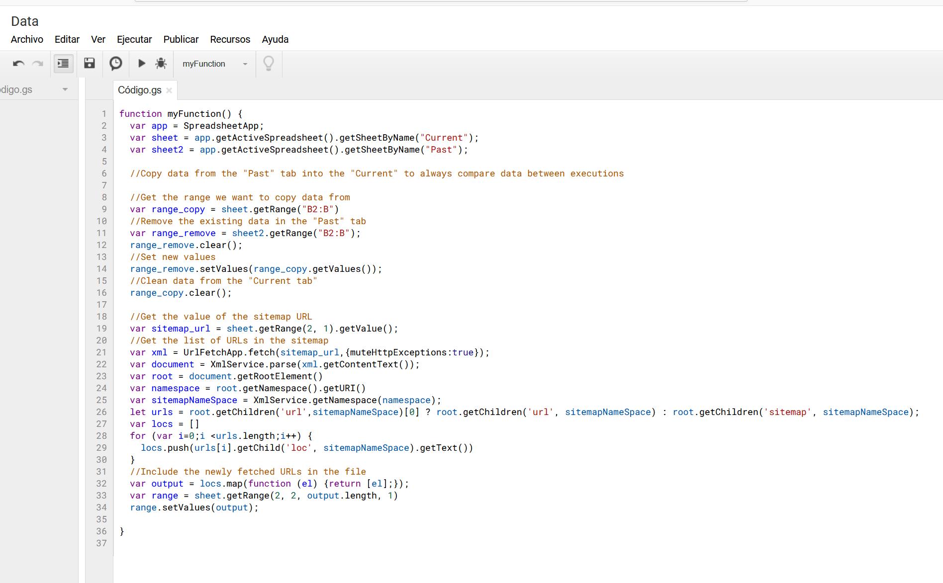 monitorizar sitemaps con integromat - 1